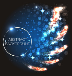 abstract background with glowing light shapes vector image