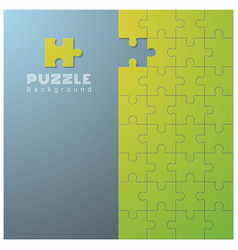 Abstract background with incomplete jigsaw puzzle vector