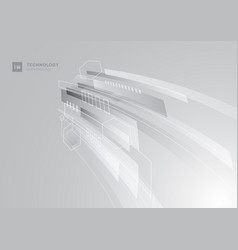 Abstract technology concept gray and white vector