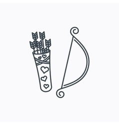 Amour arrows with bow icon Cupid love symbol vector image vector image