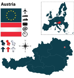 Austria and European Union map vector image