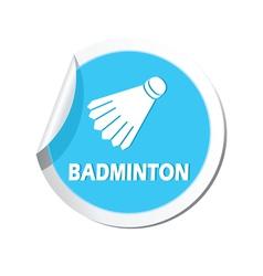 Badminton blue label vector