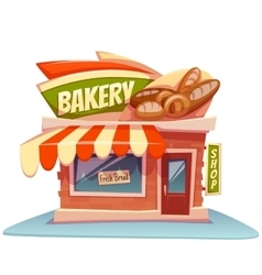 bakery building with bright vector image
