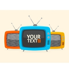 banner retro tv Flat Design vector image