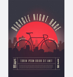 Bicycle race contest poster vector