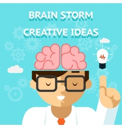 Brain storm creative idea concept vector image