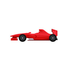 Bright red racing car super fast sports vector