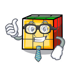 Businessman rubik cube character cartoon vector