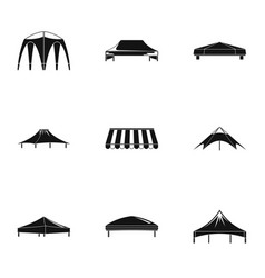 Canopy icons set simple style vector