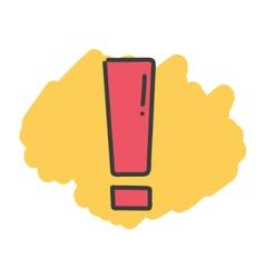 Cartoon doodle exclamation mark vector