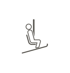 Chairlift icon simple element from map and vector