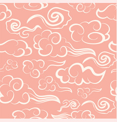 Chinese seamless patterns with oriental clouds on vector