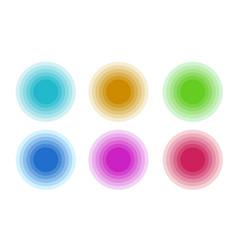 Circle color gradient collection design vector