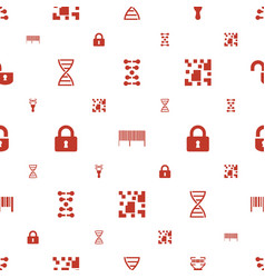 Code icons pattern seamless white background vector