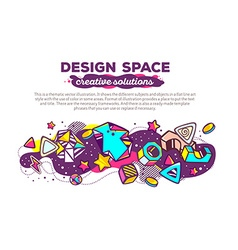 colorful abstract composition with header vector image