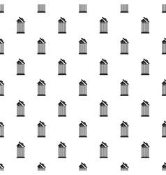 Delete letter in basket pattern simple style vector