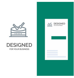 drum celebration grey logo design and business vector image
