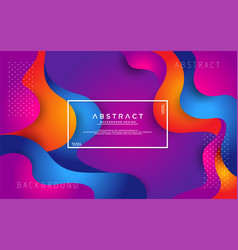 dynamic colorful liquid 3d background vector image