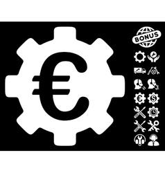 Euro Development Gear Icon With Tools Bonus vector