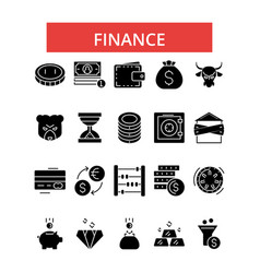 finance thin line icons linear flat vector image