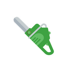 Flat a chainsaw vector