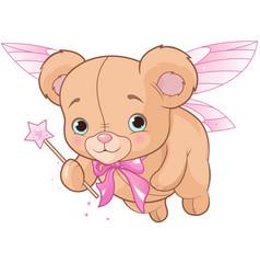 flying teddy bear vector image