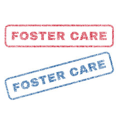 Foster care textile stamps vector