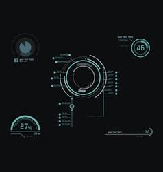 Futuristic green infographics vector image