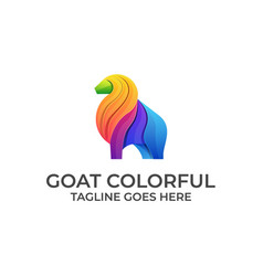 Goat bull colorful design concept template vector