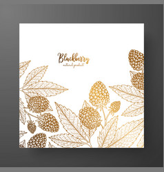 Gold card template for invitations greeting cards vector