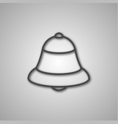 Gray icon bell vector