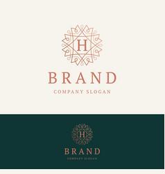 h brand logo vector image
