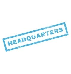 Headquarters Rubber Stamp vector image