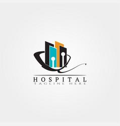 Hospital logo template vector