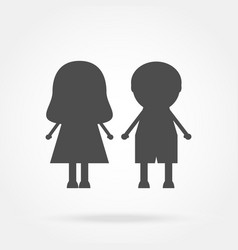 Icon boy and girl vector