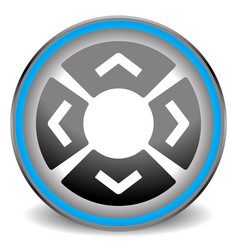 icon with arrow buttons in four direction vector image