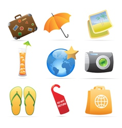 Icons for resort vector image