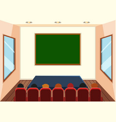 Interior of stage room vector
