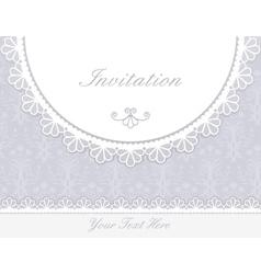 Invitation anniversary card vector image