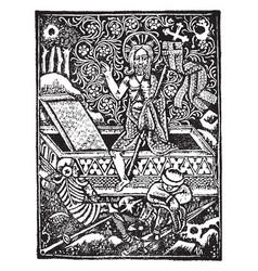 Leiden christi was printed german artist vector