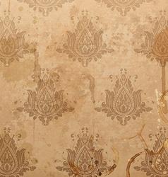 Light Brown Floral Background vector image