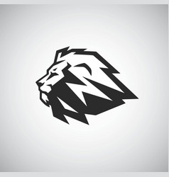 lion head icon logo template vector image