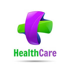 Logo medicine cross creative colorful abstract vector