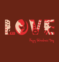 love typography background vector image