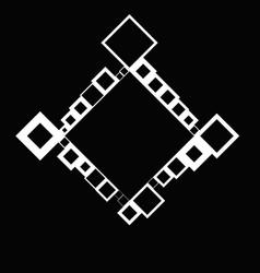 Minimal modern geometrical diagonal square border vector