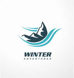 mountain logo design idea vector image