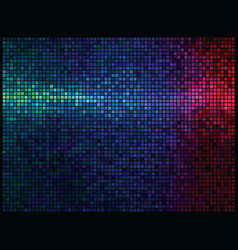 multicolor abstract lights disco background square vector image vector image