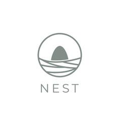 nest logo design template vector image