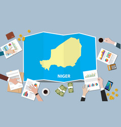 niger africa economy country growth nation team vector image