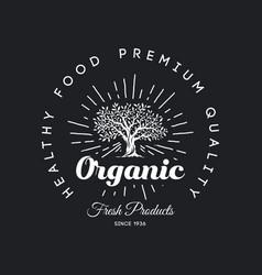 organic natural and healthy farm fresh food retro vector image